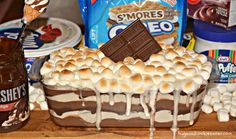 This is sure to be a hit at your next party, pot luck or barbecue! You'll Need: 9×5 Glass Loaf Pan S'mores Oreos Marshmallow Cream Print S'mores Cookie Lasagna Ingredients 1 box s'mores oreos (or regular oreos or use graham crackers if preferred) 1 box chocolate instant pudding, prepare according to the box directions …