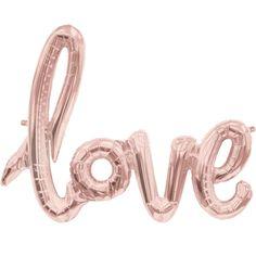 Luftballon mit Schriftzug love in Rosegold als Hochzeitsdeko.