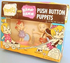 Pebbles & Bamm-Bamm Push Button Puppets by Kohner, 1963 Early Childhood, Childhood Memories, Pebbles Flintstone, First Animation, Toy 2, Vintage Cartoon, Retro Toys, Toys Shop, Old Toys