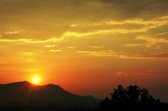 A sunset in the Smoky Mountains