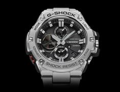 G-Shock's latest watch is bestowed with Bluetooth connectivity, solar charging and stylish stainless steel finishing.
