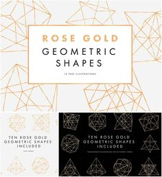 Description: Set of 10 png rose gold geometric shapes for your personal designs. Free for download. File format: .png for Photoshop or other software. File size: 5 Mb.
