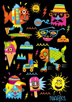 Illustration #9 by Seb NIARK1 FERAUT, via Behance