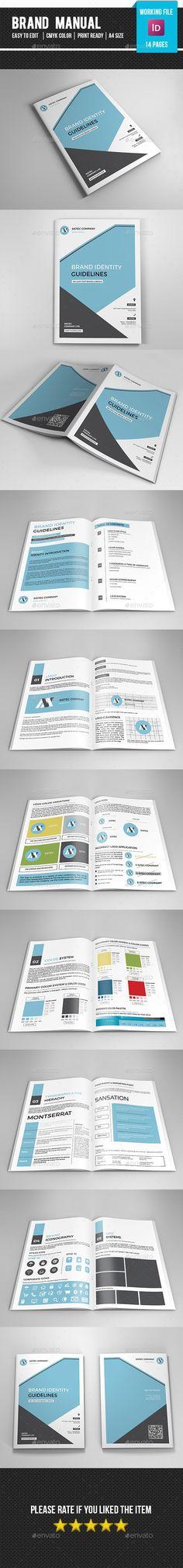 Brand Manual Brochure Template #design Download: http://graphicriver.net/item/brand-manualv03/12829385?ref=ksioks