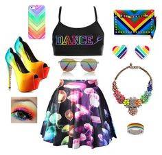 """""""Rainbow Tag"""" by nothingquitelikeit ❤ liked on Polyvore featuring TaylorSays, SHOUROUK, Casetify and Express"""