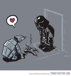 AT-AT dog and Darth Vader