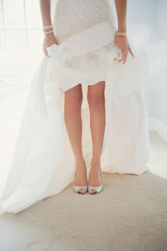 Silver Jimmy Choo Bridal Shoes | photography by http://blog.mariamackphotography.com