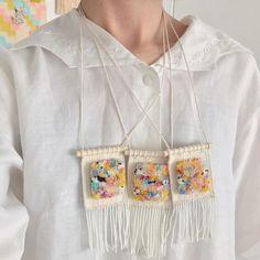 Miniature weaving by Allyson Rous