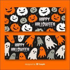 Halloween banner concept Diy Halloween Window Decorations, Happy Halloween Banner, Halloween Prints, Halloween Kids, Halloween Party, Halloween Illustration, Halloween Invitations, Autumn Theme, Concept