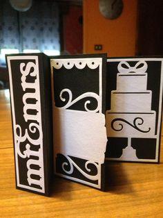 biglietto matrimonio. cartoncino gr.270 bianco e nero. tagliato con silhouette potrait