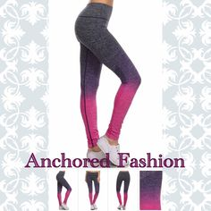 Fuchsia Ombré Legging These great quality leggings are moisture wicking and fit true to size. 88% Nylon 12% Spandex. All of my customers have rated these leggings five stars! Available in size S/M and size LG/XL. Please let me know what size and color you would like and I will create a custom bundle for you. I do discounted bundles, Pants Leggings