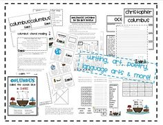 columbus day ideas - 29 pages, $5