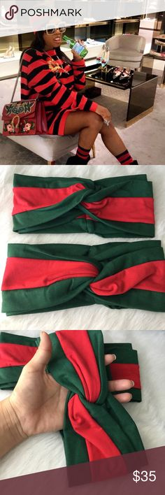 😍new GUCCI headband😍 Brand new. One size fit most. Excellent quality material u will love it is thick and stretchy! BOUTIQUE BRAND listed as GUCCI brand for exposure only⚡️ Gucci Accessories Hair Accessories