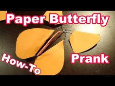 Flying Paper Butterfly Prank [MOVED] - YouTube