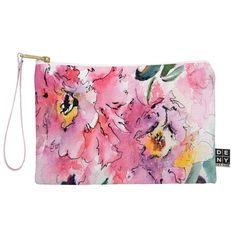 Ginette Fine Art Pink Camellias Pouch | @denydesigns  #Designs #Home #Accessories