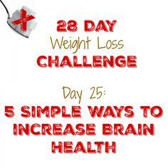5 Simple Ways to increase Brain Health  http://mysugarfreejourney.com/day-25-5-simple-ways-to-increase-brain-health/