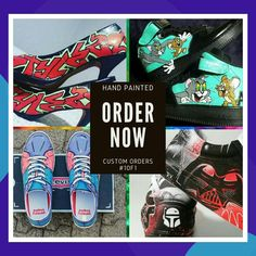 Sneakers as unique as the human who wears it. 👀 👟 👑 🌟 🔥  Order a pair of customised art sneakers from Graffitiville! Have anything you can imagine painted on them and stand out from the crowd. AND... if you're not a sneaker person, have any pair of your favourite shoes transformed into a masterpiece. Even high-heels! 👠 😁 ❤  🤩 😎 🎨 😎 🆕 😎 😈 🤠 🥾 👢 👞  #1of1 #graffitiville #whereartmeetsyou #wespeakincolour #unique #shoes #saart #saartists #graffitisouthafrica… Graffiti Tagging, Graffiti Art, Drake Artist, Two Ladies, Handmade Cushions, Meet The Artist, Unique Shoes, Custom Art, Crowd