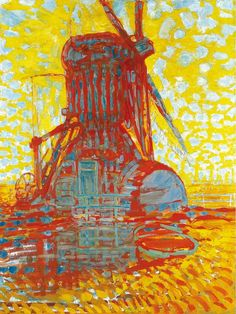 Windmill in Sunlight - Mondrian, Piet (Dutch, 1872 - Fine Art Reproductions, Oil Painting Reproductions - Art for Sale at Galerie Dada Modern Art, Art Painting, Dutch Artists, Painting, Abstract Art, Art, Abstract, Art History, Mondrian Art