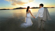 Your sunset wedding in paradise