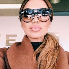 7815a5f9b0e4d Stylish Flat Top Shadow Shield Oversized Women Ladies Men Designers  Sunglasses. Lunettes De SoleilLunette TendanceAccessoires ...