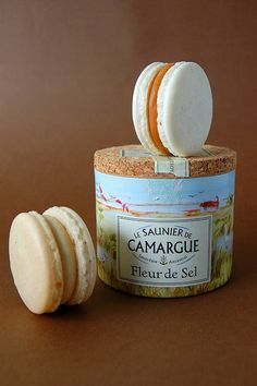 Fleur de sel & salted caramel macarons