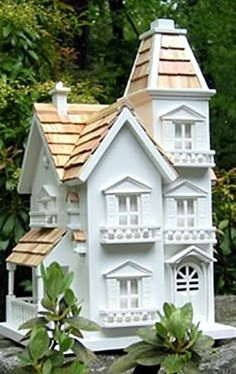The charming Manor Birdhouse is full of authentic Victorian details that will please even the most discerning bird family.