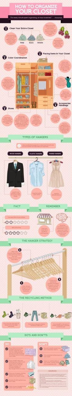 How to Organize Your Closet 101 via visulal.ly