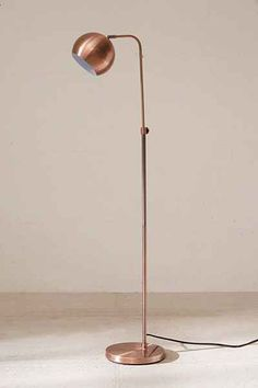 Urban Outfitters Gumball Floor Lamp - Copper One Size Lamp Light, Light Bulb, Desk Lamp, Table Lamp, Copper Floor Lamp, Living Room Lounge, Modern Vintage Fashion, Contemporary Lamps, Gumball