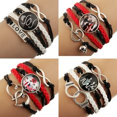 Find More ID Bracelets Information about 12pcs 2014 NEW  Sideways Mix Charm Music Super Star 5 seconds of summer 5sos Bracelets Wristbands Jewelry Fans Free shipping,High Quality jewelry box with mirror,China jewelry charm Suppliers, Cheap charming present from Everest Store on Aliexpress.com