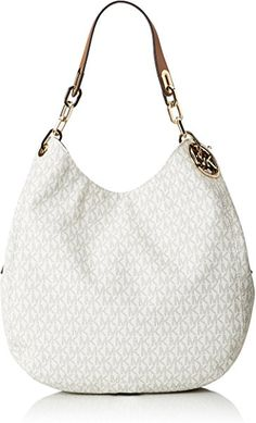 559929830dc9 MICHAEL Michael Kors Signature Large Fulton Shoulder Bag Vanilla     Visit  the image link more details.