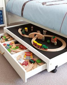 Underbed Play Table With Drawers