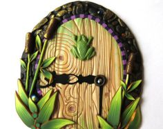 Heart Fairy Door Pixie Portal by Claybykim on Etsy