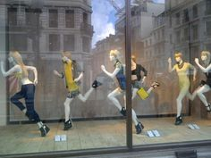 Mannequin Madness supplied these running mannequins for an H store in London for the Olympics