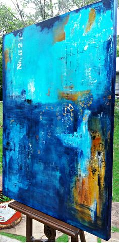 Large Abstract Painting by Crystal Renee. Original Art for