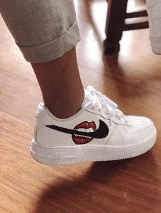 Fashion and street footwear, search our assortment of chic streetwear shoes and tennis shoes. Custom Painted Shoes, Custom Shoes, Sneakers Fashion, Fashion Shoes, Shoes Sneakers, Nike Fashion, Fashion Outfits, Nike Shoes Air Force, Aesthetic Shoes