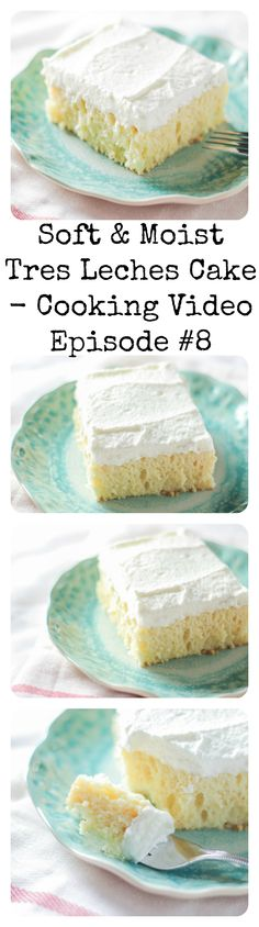 This soft and moist tres leches cake is SO simple to make and tastes like a fluffy whipped cream cake cloud! #youtube #cookingvideo #tresleches #simplecakerecipe