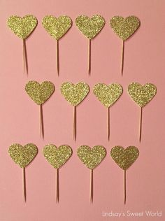 Lindsay's Sweet World: Pink and gold first birthday party - cupcake toppers