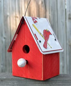Hey, I found this really awesome Etsy listing at https://www.etsy.com/listing/93905638/rustic-birdhouse-st-louis-cardinals