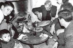 BREAD  CUTTING  AND  EATING - GREECE  AFTER   THE  WAR !!!                  11082206_453419711477029_8800298818048709146_o
