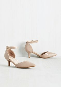Isn't She Sharp? Heel. Whispers of your cultivated style will circulate as you strut through the office in these beige kitten heels. #tan #bridesmaid #modcloth