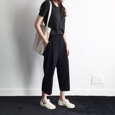 just black top with black cullote with white sneakers can be this interesting :)