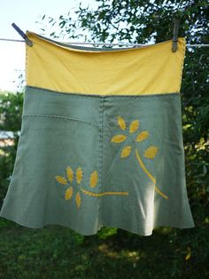 Hand stitched skirt by Captain Crafty, via Flickr