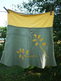alabama chanin skirt reverse applique
