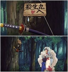 This image reminds me of a scene I'm planning in which Sesshomaru would is seen taking his Tenseiga and is inevitably overcome with grief and rage from both his father's death and the ill-precieved final act of slight.