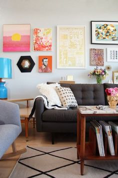 Modern Art Eclectic Living Room Design