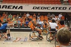 Come Watch Oklahoma State University Athletes take on The Spokes Wheelchair Basketball Team. As a fundraiser for the OSU Wheelchair Basketball team, an all-star squad of both men and women varsity athletes will take on the OSU Wheelchair Basketball team.