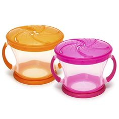 Munchkin 2 Piece Snack Catcher, Pink/Orange *** To view further, visit the image link. Amazon Affiliate Program's Ads.