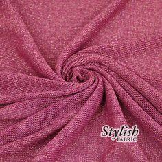 Magenta Stretch Sweater Knit Fabric with Sheen by StylishFabric, $5.90 cardigan