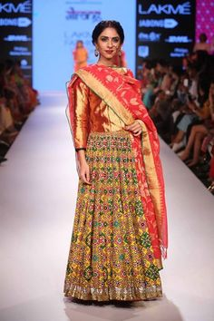 Gaurang Shah lehanga choli.. I absolutely love the skirt. Its so quirky. Pair it with a meganta crop top and your fun look is ready