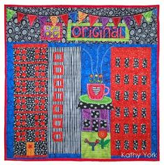Art Quilts by Kathy York Note dyed red batting.
